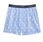 Tommy Hilfiger M Woven Boxers Boxer Shorts Blue Button Fly Waist 32-34 Medium