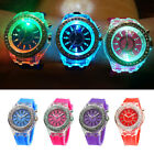 Fashion Cool Watch Sports Flash Light Up LED Silicon Band Mens Boy Gril Gift NEW