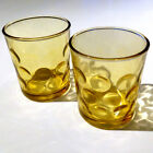 Hazel-Atlas, Eldorado Gold, Mid Century 8oz. Glass Cocktail Tumblers, Set of 2
