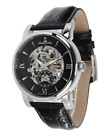 Lindberg&Sons Men's Automatic Watch with Black Dial Analogue Display and black L