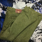 VTG Corniche Mens Green Denim Jean Shorts Size 42 39x24 Measured