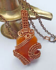 copper wire wrapped jewelry   EB101 Copper wire wrapped agate neckklace