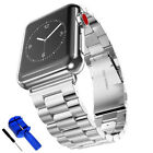 38mm For A pple Watch Series 3/2/1 Stainless Steel Wrist iWatch Replacement Band