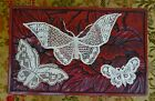 3 x Stunning Handmade Lace Butterfly Motifs Crochet Antique Vintage Wedding Dres