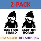 2-pack Baby On Board Carlos Funny Hangover Car Truck Window Sticker Vinyl Decal