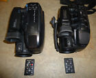 Lot of 2 Video Camers, Panasonic PV-IQ403D and PSC24C, VHS-C, with Remotes