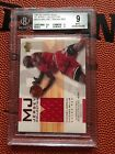 2001-02 MICHAEL JORDAN Upper Deck MJC4 GAME USED Jersey Collection 50 BGS 9