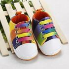 Baby Shoes Rainbow Sneakers Moccasins Shoes Toddler Classic Soft Canvas Footwear