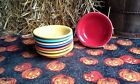 set 8 STACKING FRUIT BOWL scarlet sunflower turquoise marigold FIESTA WARE new