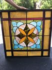 Antique stained glass window from 1870 church