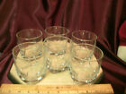 6 clear Rocks Tumbler/Glasses-3.5