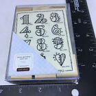 JRL Designs Close to the Heart Rubber Stamp Set of 12 Festive Fun Numbers