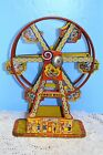 Vintage J Chein 172 Tin Litho Wind Up Hercules Ferris Wheel EXC Shape Working