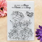Flowers Butterfly Scrapbook DIY photo cards rubber stamp clear stamp