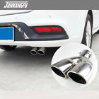 25 Inlet Stainless Steel Oval Dual Exhaust Tip Car Muffler Tail Pipe Universal