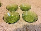Vintage Lot of 4 Anchor Hocking Soreno Avocado Green  6