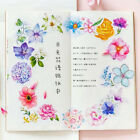 45Pcs Flowers Stickers Kawaii Stationery Scrapbooking Journal DIY Cute Stickers