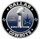 Dallas Cowboys Super Bowl Championship Sticker NFL Decal 8 Different Sizes