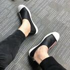 Mens Striped Loafer Flats Heel Flats Casual Fashion Sneakers breathable Shoes