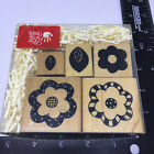 JRL Designs Close to the Heart Rubber Stamp Set of 5 Funky Florals