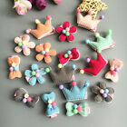 1X New puppy Xmas beads flower dog hair bow clips rubber bands pet hairpins