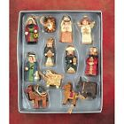 12 Piece CHRISTMAS NATIVITY ORNAMENTS Wood Cut Look by Dicksons