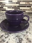 Fiestaware Cup & Saucer Set in Retired Plum