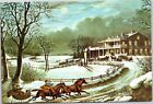 Merry Xhristmas - Horse with Sleigh down lane to large country house