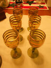 roumania cordial glasses gold trim green shot drink glass