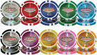 Las Vegas 14 Gram Clay Poker Chips Sample Set Pack NEW All 10 Denominations