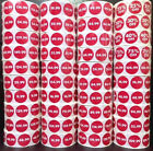 Roll Of 1000 Glossy Price Point Labels Tags Stickers Redwhite For Christmas