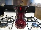 Collectible Large Vintage ANCHOR HOCKING Royal Ruby Red Bubble Glass Vase