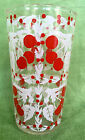 5 Vintage Red Cherry Juice Glasses 5 oz CHERRIES -Rare!