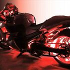 Red 4pc LED Kit Engine Fairing Body Kit Lights Glow Accent Lighting for Harley