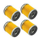 4 PCs Engine Oil Filter for Yamaha VP125 X-City 07-15 YP125R X-Max 06-14