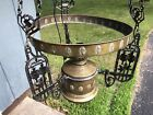 Matador Brenner Wrought Iron Hanging Light converted to electric - missing shade