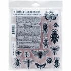 NEW Tim Holtz Stampers Anonymous Entomology Cling Rubber Stamp Set CMS328