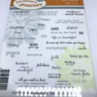 Fun Stampers Journey Rubber Stamp Text Happy 36 Tiny Stamps