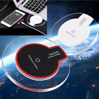 Clear Qi Wireless Fast Charger Charging Pad For Samsung Galaxy S9 S8+ iPhone X 8
