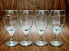 Libbey Chivalry Clear Wine Glasses Goblets Vintage Stemware Textured 6 1/4