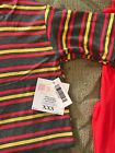 Brand New LulaRoe XXS Striped Irma and Red One Size Lefgings