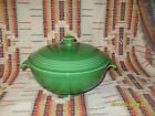 MEDIUM GREEN  FIESTA COVERED CASSEROLE & LID - MINT !! - FIESTAWARE