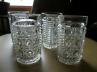 SET OF 4 Federal Glass WINDSOR ROYAL BRIGHTON Tumblers 11 0z