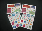 Creative Memories CHRISTMAS Stickers Lot of 4 Block Stickers