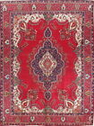 Enchanting Vintage Decorative Floral 10x13 Wool Tabriz Persian Oriental Area Rug