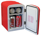 Portable Compact Mini Fridge Beverages Storage Thermoelectric Cooling Red 6 Can