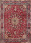 Grand Semi Antique Handmade Floral 10x13 Wool Tabriz Persian Oriental Area Rug