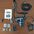 Nikon D D200 102MP Digital SLR Camera Black Kit w AF S DX G 18 70mm Lens