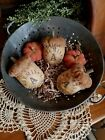 Primitive Antique Style Bemis Sack Fall Acorn Pumpkin Ornie Bowl Filler Lot 5