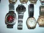 Lot of Mens Old Watches Certina Blue Ribbon, Waltham, Ruby, Timex